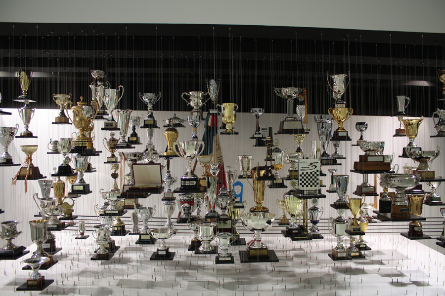Collection of Porsche trophies - Credit: Carson White
